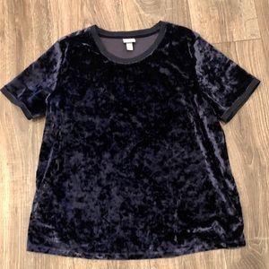 A New Day Velvet Shirt Sz Large